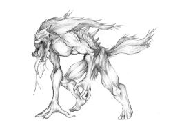 Mutant lycanthrope by adrimola