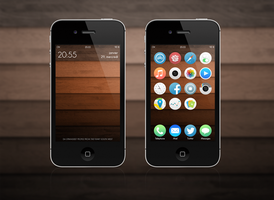 iOS 7 - Wood Love by OhCult