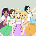 Ouran maids by Alislair
