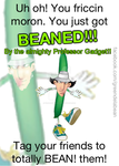 Beaned by the almighty Professor Gadget by WhaleBubbler