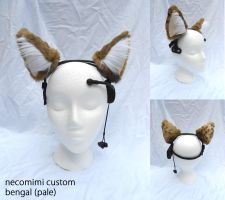 necomimi custom ears BENGAL PALE by plushabilities