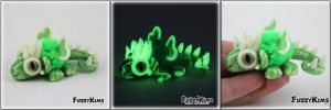 Polymer Clay Dragon Glow in the Dark by KIMMIESCLAYKREATIONS