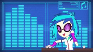 DJ Pon3 - EqG Version - DJ Wallpaper by Clone26
