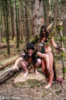 MCC Forest Demons: The Shaman and her Blood Wolf by MummeryComics