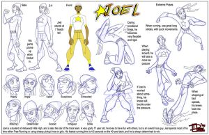 Joel Model Sheet v.3 by Dustin-C