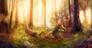 Forest Spirit - The Fox by outstarwalker
