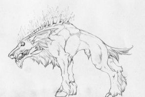 Death Hound by ElysianImagery