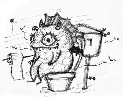 toilet-trained monster by cecilliahidayat