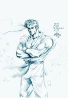 SF sketch: Ryu by MatiasSoto