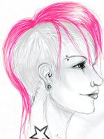 Pink -sketch- by TopHat-And-Tentacles