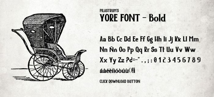 Yore Font by Pilastrum