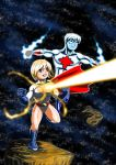 Power Girl and Captain Atom by adamantis