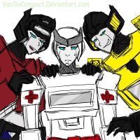 The Twins and Ratchet by VanillaCompact