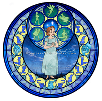 Wendy - Kingdom Hearts Stain Glass by reginaac57