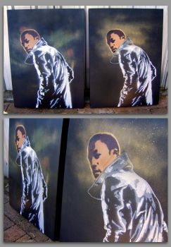 Lupe Fiasco - Canvas Stencils by Exponential-1