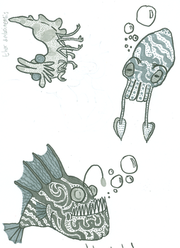 Assorted sea life by spectral-influx