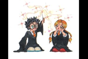 Harry and Ginny by Sahan