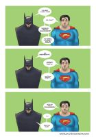 Comic Batman and Superman by nirman