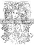 Art of Meadowhaven Coloring Page: Kitsune by Saimain