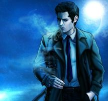 [Supernatural] Cas (Smoking) by VividcrayonXD
