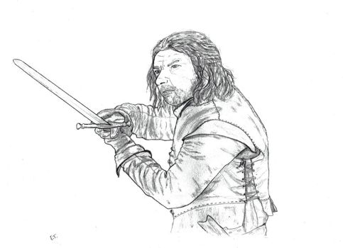 Ned Stark fighting by Dodie59