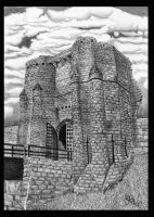 Warkworth Castle in Pencil by Dabull04