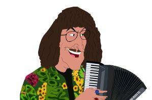 Frollo as Weird Al (now with an accordion) by AndrewSS23
