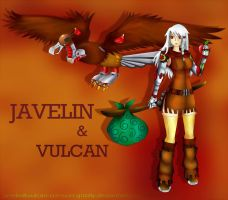 CR - Javelin and Vulcan by crimson-grizzly