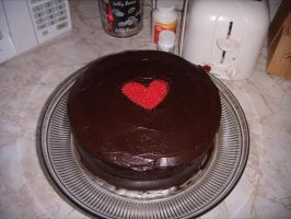 Chocolate Heart Cake - Photo by frisket17