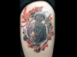 Patriot with Foliage Tattoo by Sean Ambrose by seanspoison