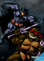 Batman vs. Raphael by Shayeragal