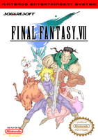 Final Fantasy VII NES Front Cover by vladictivo