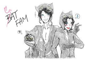 DC: Cat Family by jandrews323