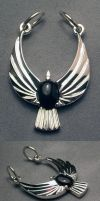 Abstract eagle pendant by Dans-Magic