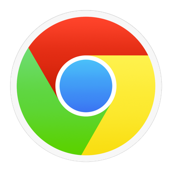 Flat Google Chrome Icon for Mac OS X by creativelaundry