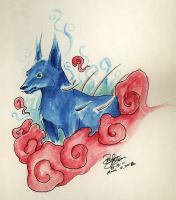 Blue Spike Wolf by Armadeo
