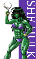 She Hulk - Want to play? by Claret821021