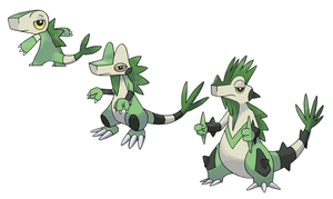 Iguana Pokemon by JoshKH92