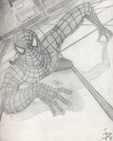 Spidey Movie 1 Poster Sketch by Tempest-in-Blue