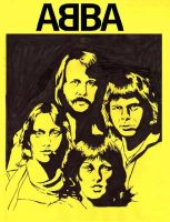 ABBA in yellow by warholstein