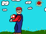 Mario, you high bro? by Imnoartistru