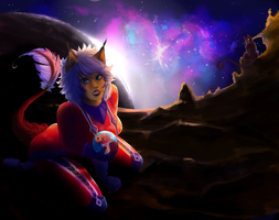Space Kitty by poofyturtle