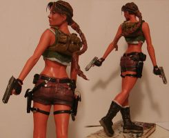 lara croft painted b by lussybussy