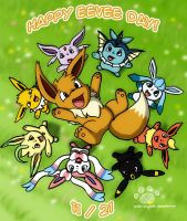 Eevee Day 2013 by Coshi-Dragonite