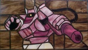 Shockwave Stained Glass by AutobotWonko