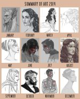 .:Summary of Art 2014:. by KathyRose