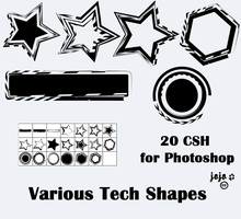 Various Tech Shapes by jojo-ojoj