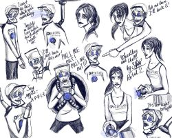Portal 2. Good Wheatley and Chell. by sferchik