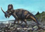 At the Coast of Inland Sea -- Centrosaurus apertus by cheungchungtat