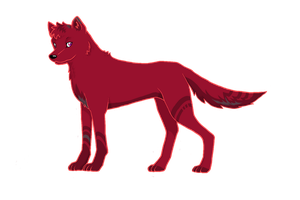 Red wolf by Charlikesmudkips